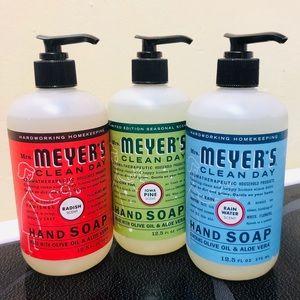 Mrs. Meyer's hand soaps x3